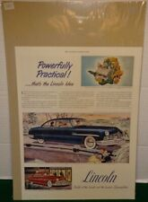1949 Lincoln Cosmopolitan V-8 type Engine Color Advertisement
