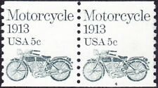 US - 1983 - 5 Cents Gray Green Motorcycle Coil # 1899 Plate Number 4 Pair F-VF +