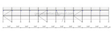 Gerüst Typ Layher 240 qm mit Durchstieg Fassadengerüst Stahlböden 3,07 m NEU