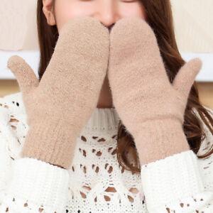 Winter Warm Wool Women Gloves Fashion Full Finger Mittens Female Soft Gloves New