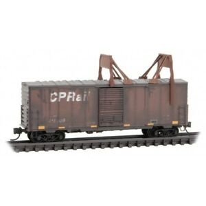 Z Scale Micro-Trains MTL 50344260 CP Rail Ice Breaker Box Car #410009 Weathered