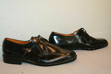 MENS 8.5 NOS Vtg 60s 70s Sandy McGee BLACK LEATHER OXFORD DRESS SHOE
