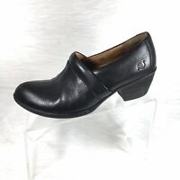 Born Women's Ankle Boots Booties Black Leather Size 8.5 M