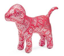 NEW Victoria's Secret PINK Silver snowflakes Neon Red Metallic DOG doggy Large
