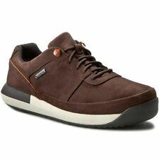 Clarks BNIB Mens Casual Shoes JOHTO LACE GTX Dark Brown Nubuck UK 9.5 / 44