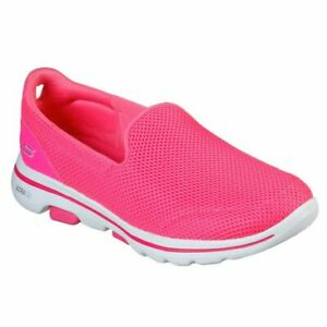 Skechers GOwalk 5 Honor Womens Shoes, Skechers Air Cooled, Comfo, Pink UK 5 to 7