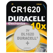 10x CR1620 DURACELL Electronics Lithium Knopfzelle DL1620 3Volt