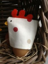 2 X egg cosy in spot print fabric similar to Emma Bridgwater stocking filler