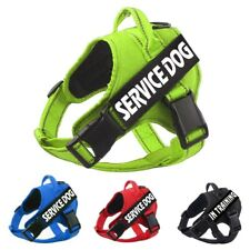 Dog Pet Vest Collar Adjustable Reflective Control Training Strap Harness & Patch