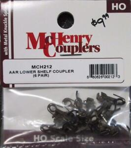 HO AAR Lower Shelf Coupler Train Parts (6 Pair) - McHenry #MCH212 vmf121