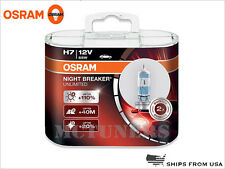 New! OSRAM Night Breaker Unlimited NBU H7 bulbs +110% lights 55W made in GERMANY