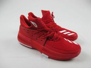 adidas Dame 3 Basketball Shoes Men's Red/White NEW 13.5
