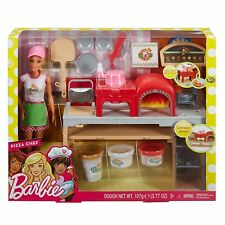 NEW Mattel Barbie Woodfire Oven Pizza Chef Barbie Blonde