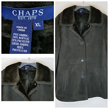 Chaps by Ralph Lauren Men's Dark Green Faux Suede & Fur Coat Size XL