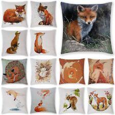 Fox Linen Cotton Fashion Throw Pillow Case Cushion Cover Home Sofa Decor 18'' UK