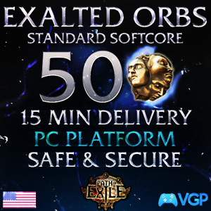 Exalted Orbs Path of Exile STANDARD SC 🔥50🔥 PoE Standard Softcore Exalts Orb