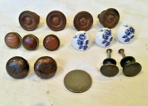 Antiques, Architectural Salvage, Lot of 14, hardware, Pulls & Knobs, 1900-1970