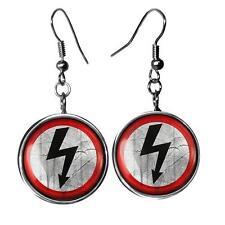Shock Rock Music Arrow Marilyn Manson Gothic Silver Glass Music Earrings