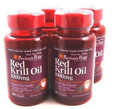 4X Red Krill Oil 1000 Mg 30 SoftGels Omega 3 Mega Heart Health No Fishy Odor