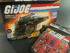 Gi Joe 100 building sets - COBRA HISS NINJA COMMANDO SKYSTRIKER - choose + bonus