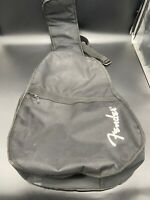 Fender Black Gig Bag Electric Bass Guitar Carry Case Zipper Handles And Straps