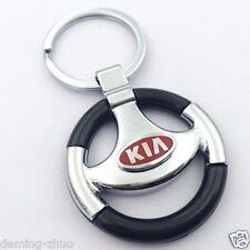 Car logo Metal Steering Wheel Key Chain pendant Key Ring Keychain for KIA
