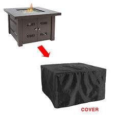 More details for glow warm table fire pit cover in black