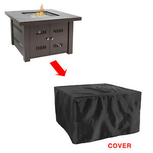 Glow Warm Table Fire Pit Cover in Black
