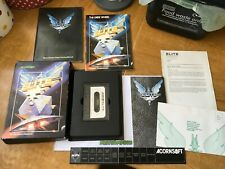 Elite game acornsoft acorn electron cassette tape with novella