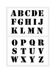 Druck Buchstaben groß 5cm hoch ABC Schablone Nr. 5 Alphabet 2 Schriftschablonen