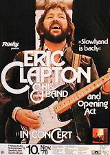 ERIC CLAPTON  Konzertplakat von 1978 in MÜNCHEN