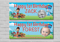 Birthday Party Banner Decoration PAW PATROL 1st/2nd/3rd/4th/5th/6th  ANY AGE