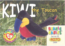Ty Beanie Babies Bboc Card - Series 2 Common - Kiwi the Toucan - Nm/Mint