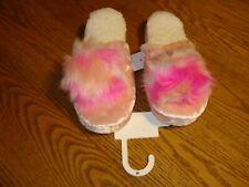 NEW Womens Pink Slippers Size M 7-8