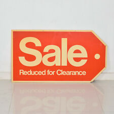 Vintage Plastic SOLD Sign, Vintage Advertising Knoll Eames Era