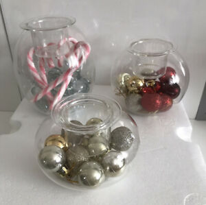 Clearly Creative Eclectic Votive Holder Set Of 3 Decorate Your Own Way - Boxed