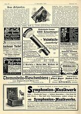 Max Erler Leipzig Neue Pelzmoden Symphonion- Syndicat zu Leipzig Musikwerke 1901