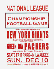 """Packers vs Giants 1939 Championship Game Promo Poster  - 8""""x10"""" Photo"""