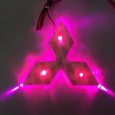 LED Car Tail Logo purple light Auto Badge Light for Mitsubishi Lancer Lioncel