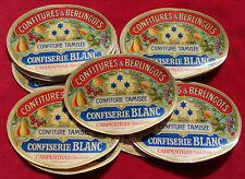 CONFITURE & BERLINGOTS : CONFISERIE CARPENTRAS : 10 ETIQUETTES ANCIENNES   !