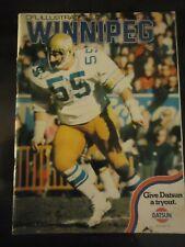 1974 CFL Canadian football program Winnipeg Blue Bombers @ Edmonton Eskimos