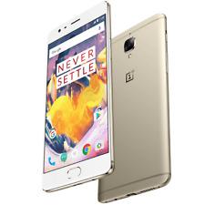 "Oneplus 3T A3003 Smartphone 6GB Ram 64GB Rom Dual Sim 4G LTE Unlocked 5.5"" Gold"