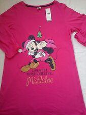 Vestido de Noche nuevo Disney Minnie Mickey señoras para mujer Pijamas Talla L Top Tamaño 14