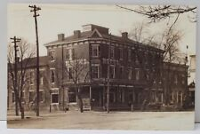 Newport Pa, Center Square c1900 First National Bank 2003 Series Postcard B6
