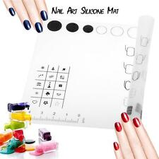 Professional Nail Art Manicure Silicone Mat Washable Soft Table Cover Pad C7Y5