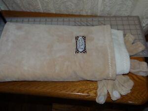 Blankets and Beyond Pink Swirl Baby Girl Blanket w Fleece Backing Satin Edge EUC