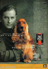 PUBLICITE ADVERTISING 096  1996  Purina Pro Plan  aliment pour chien