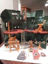 He-Man Masters Universe CASTLE GRAYSKULL Near Complete Has Pistol & 1 Cardboard