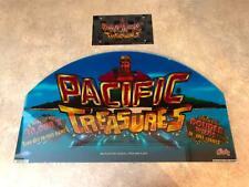 "Bally ""Pacific Treasures"" C810C0331PTRS121008  Slot Machine Glass Topper (X-2)"
