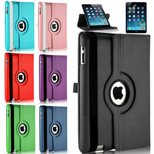 Leather 360 Degree Rotating Stand Case Cover For APPLE iPad 2 3 4